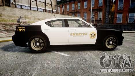 GTA V Bravado Buffalo LS Sheriff Black [ELS] Sli para GTA 4 left
