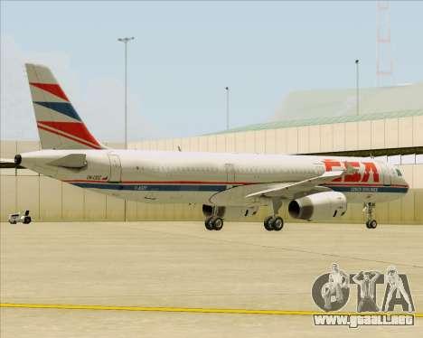 Airbus A321-200 CSA Czech Airlines para el motor de GTA San Andreas