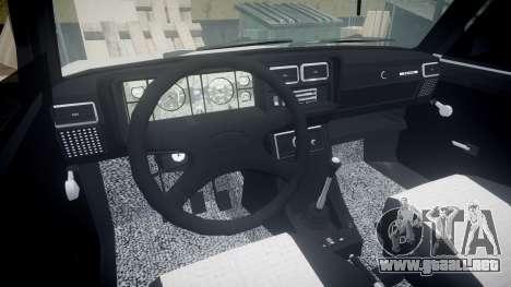 VAZ-2107 estilo de azerbaiyán para GTA 4 vista hacia atrás