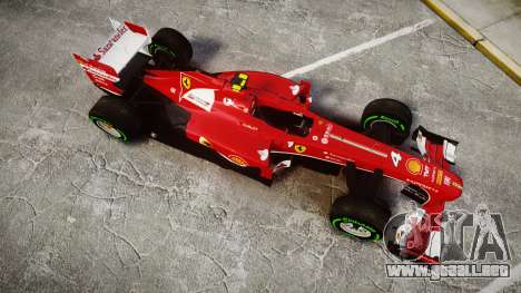 Ferrari F138 v2.0 [RIV] Massa TIW para GTA 4 visión correcta