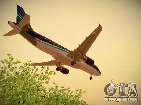 Airbus A320-214 Azerbaijan Airlines AZAL para la vista superior GTA San Andreas