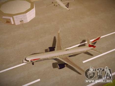 Boeing 757-236 British Airways para GTA San Andreas vista hacia atrás