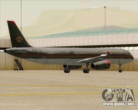 Airbus A321-200 Royal Jordanian Airlines para GTA San Andreas
