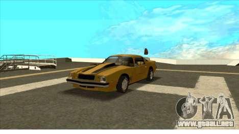 Chevrolet Camaro Z28 Bumblebee para GTA San Andreas