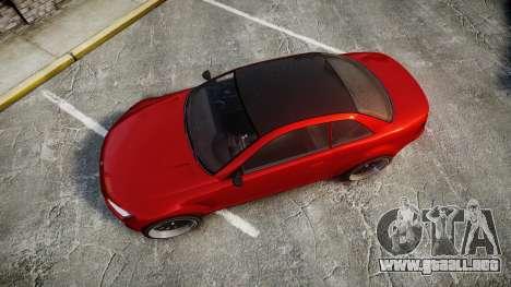 GTA V Ubermacht Sentinel XS para GTA 4 visión correcta