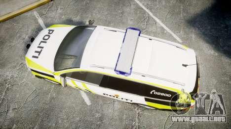 Volkswagen Passat 2014 Marked Norwegian Police para GTA 4 visión correcta