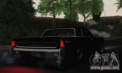 Lincoln Continental Sedan (53А) 1962 para GTA San Andreas left