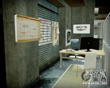 Garaje con nuevo interior Alcalina para GTA 4 undécima de pantalla