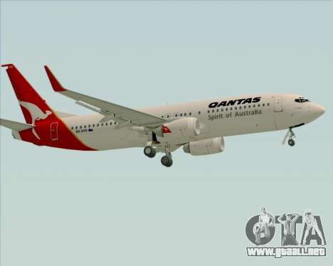 Boeing 737-838 Qantas (Old Colors) para la vista superior GTA San Andreas
