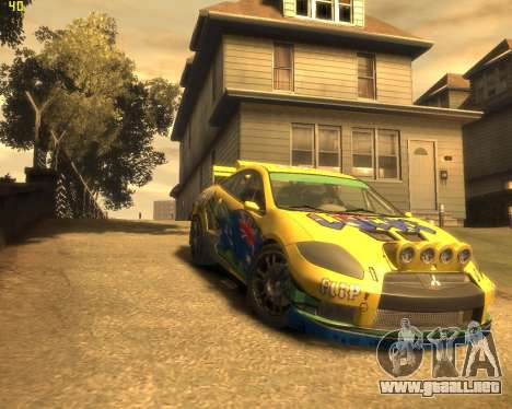 Mitsubishi Eclipse GT Rallycross para GTA 4 vista hacia atrás
