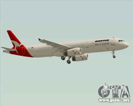 Airbus A321-200 Qantas para la vista superior GTA San Andreas