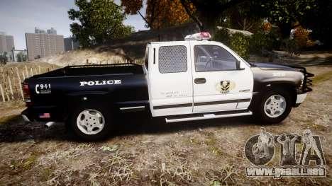 Chevrolet Silverado SWAT [ELS] para GTA 4 left