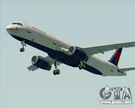 Airbus A321-200 Delta Air Lines para la visión correcta GTA San Andreas