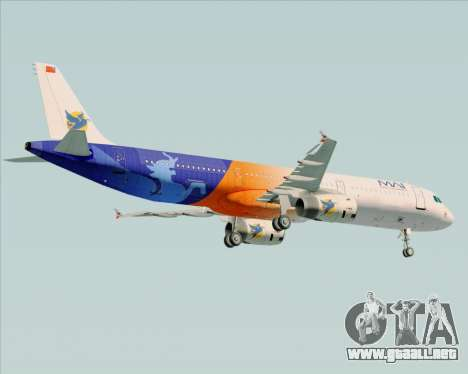 Airbus A321-200 Myanmar Airways International para la visión correcta GTA San Andreas