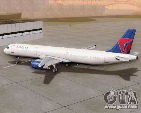 Airbus A321-200 Delta Air Lines para la vista superior GTA San Andreas