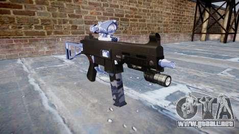 Pistola de UMP45 Azul Tigre para GTA 4
