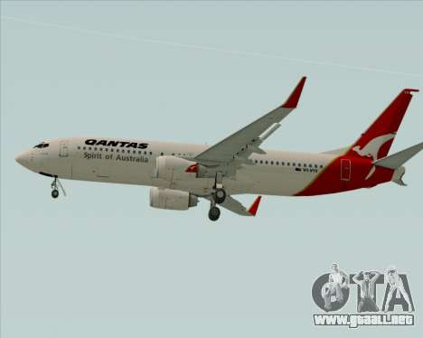 Boeing 737-838 Qantas (Old Colors) para GTA San Andreas vista hacia atrás
