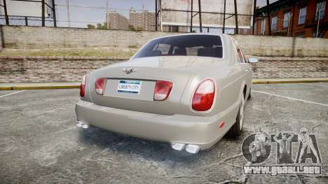 Bentley Arnage T 2005 Rims3 para GTA 4 Vista posterior izquierda