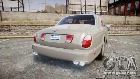 Bentley Arnage T 2005 Rims3 para GTA 4 Vista posterior izquierda