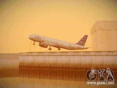 Airbus A321-232 jetBlue Blue Kid in the Town para la vista superior GTA San Andreas