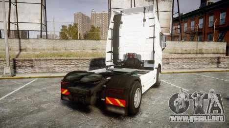 Volvo FH16 para GTA 4 Vista posterior izquierda