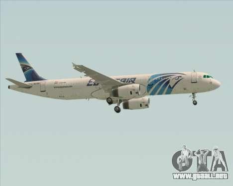 Airbus A321-200 EgyptAir para vista lateral GTA San Andreas