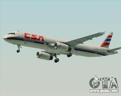 Airbus A321-200 CSA Czech Airlines para la visión correcta GTA San Andreas