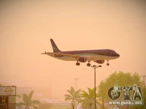 Airbus A320-214 Azerbaijan Airlines AZAL para visión interna GTA San Andreas
