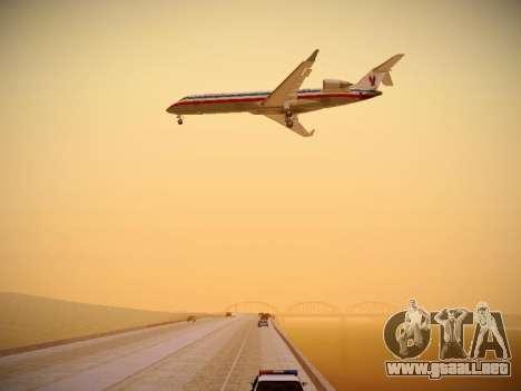 Bombardier CRJ-700 American Eagle para vista inferior GTA San Andreas
