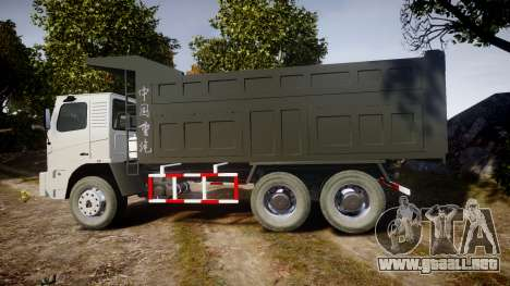 HOWO Truck para GTA 4 left