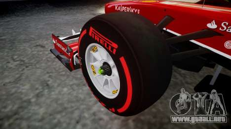Ferrari F138 v2.0 [RIV] Alonso TSSD para GTA 4 vista hacia atrás