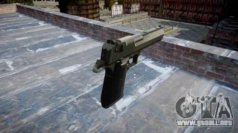 Pistola IMI Desert Eagle Mc XIX Negro para GTA 4 segundos de pantalla