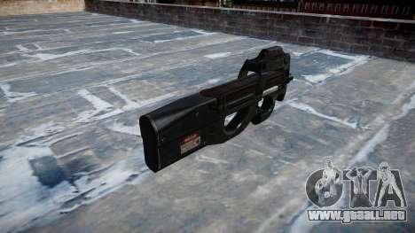 Pistola De Fabrique Nationale P90 para GTA 4 segundos de pantalla