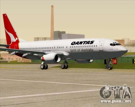 Boeing 737-838 Qantas (Old Colors) para vista lateral GTA San Andreas