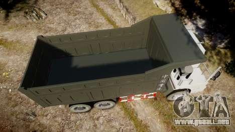 HOWO Truck para GTA 4 visión correcta