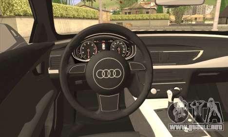 Audi A7 para GTA San Andreas vista posterior izquierda