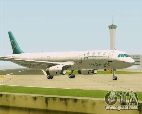 Airbus A321-200 Hansung Airlines para vista inferior GTA San Andreas