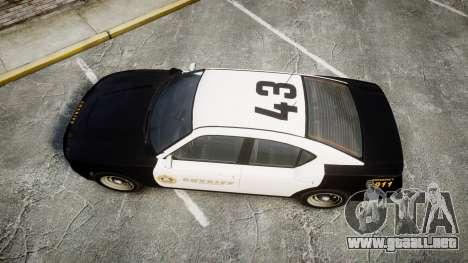 GTA V Bravado Buffalo LS Sheriff Black [ELS] Sli para GTA 4 visión correcta