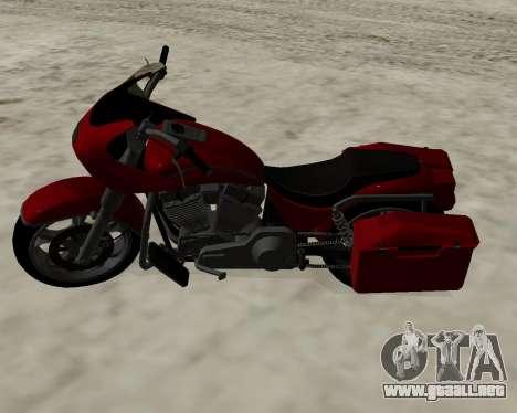 Bagger para GTA San Andreas vista hacia atrás