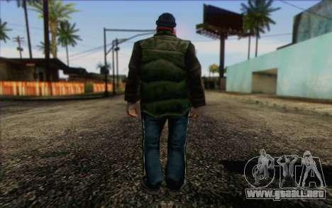 Vagabonds Skin 1 para GTA San Andreas segunda pantalla