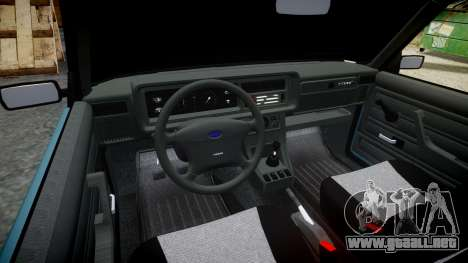 El USO de-2107 hobo para GTA 4 vista interior