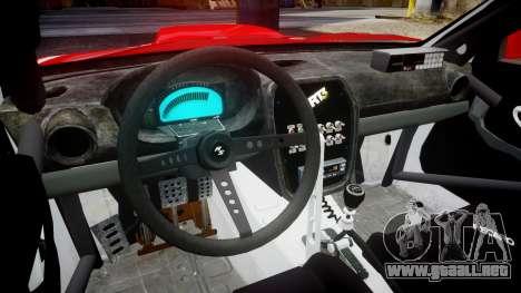 Subaru Impreza WRX STI Street Racer para GTA 4 vista hacia atrás