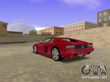 Ferrari 512TR para GTA San Andreas left