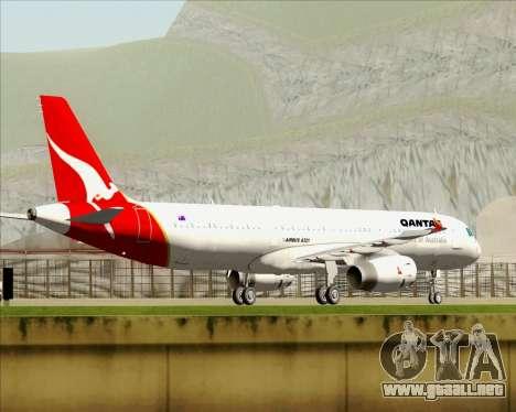 Airbus A321-200 Qantas para el motor de GTA San Andreas