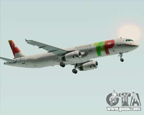 Airbus A321-200 TAP Portugal para vista lateral GTA San Andreas