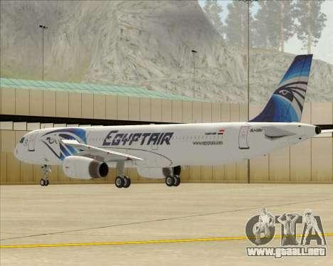 Airbus A321-200 EgyptAir para las ruedas de GTA San Andreas