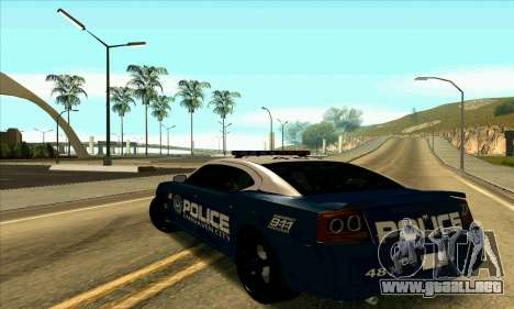 FCPD Dodge Charger SRT8 para GTA San Andreas left