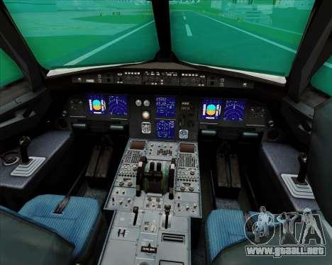 Airbus A321-200 Qantas para GTA San Andreas interior