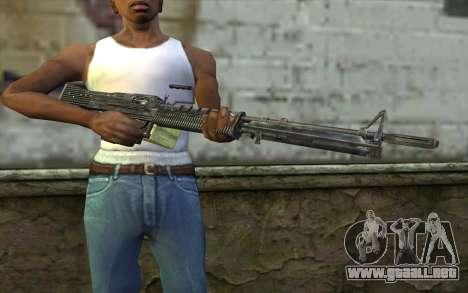M60 from Battlefield: Vietnam para GTA San Andreas tercera pantalla