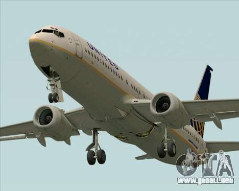 Boeing 737-824 United Airlines para vista lateral GTA San Andreas
